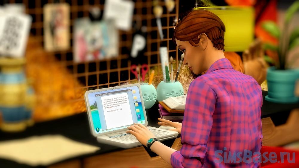 Мод «Традиции для писателя» от caradriel для Sims 4