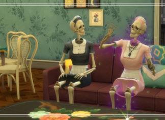 Как стать Скелехильдой и добавить её в семью в Sims 4 Паранормальное