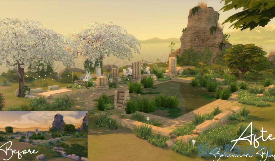 Свадебный парк «Утесы» от Lahawana для Sims 4