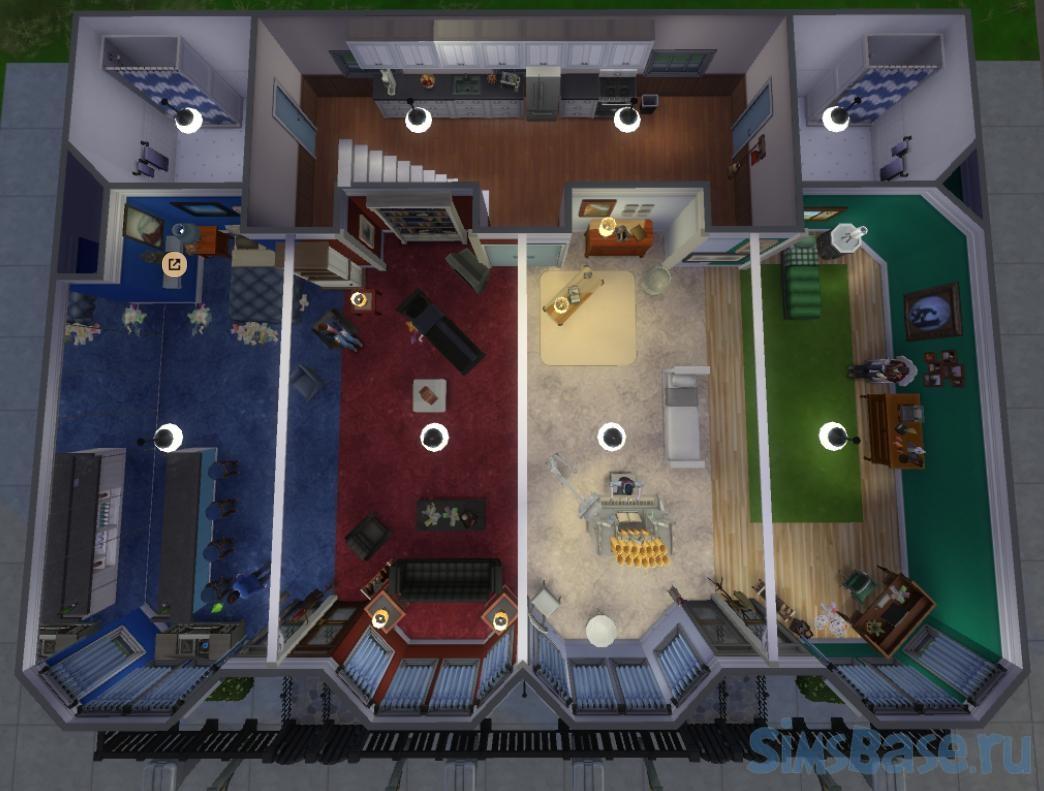 Жилой дом Битлз от 2cupsoforangejuice для Sims 4