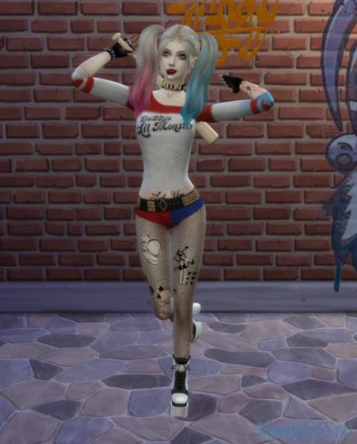 Персонаж Харли Квинн от SweetyKrolick для Sims 4