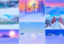 Фоны для CAS Гора Комореби от katverse для Sims 4