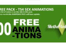 Большой пак анимаций вуху от MOTHERLODESIMS для Sims 4