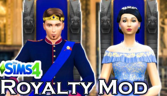 Мод Royalty Mod-Королевская жизнь от llazyneiph для Sims 4