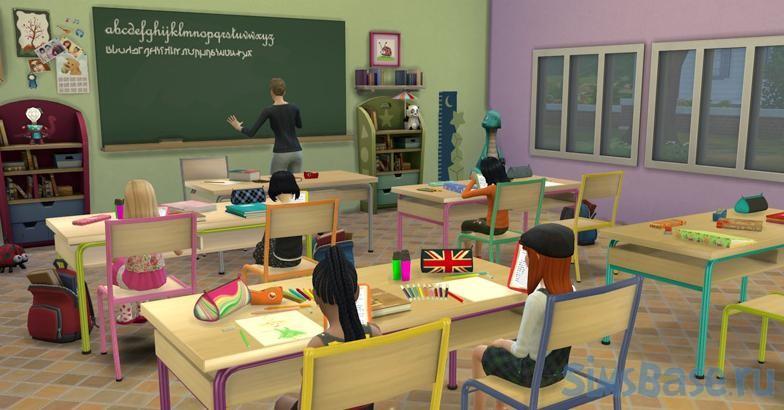 Мод «В школу Go to School» от zerbu для Sims 4