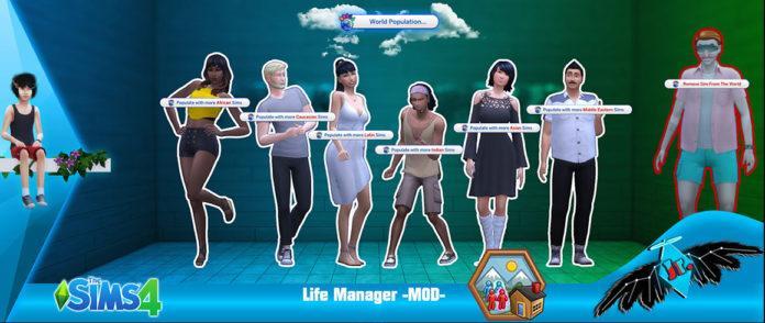 Мод «Менеджер жизни Life Manager» от Sacrificial для Sims 4
