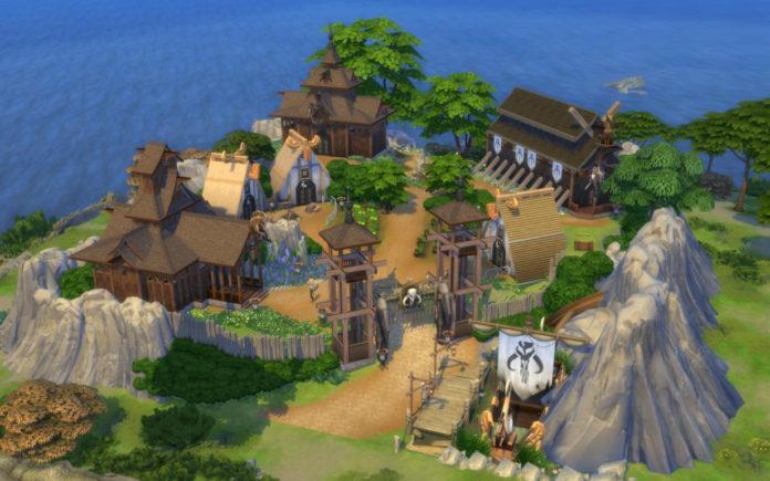 Аутентичное поселение викингов от bradybrad7 для Sims 4