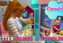 Мод «Улучшенные взаимодействия с младенцами и малышами» от Caradriel для Sims 4