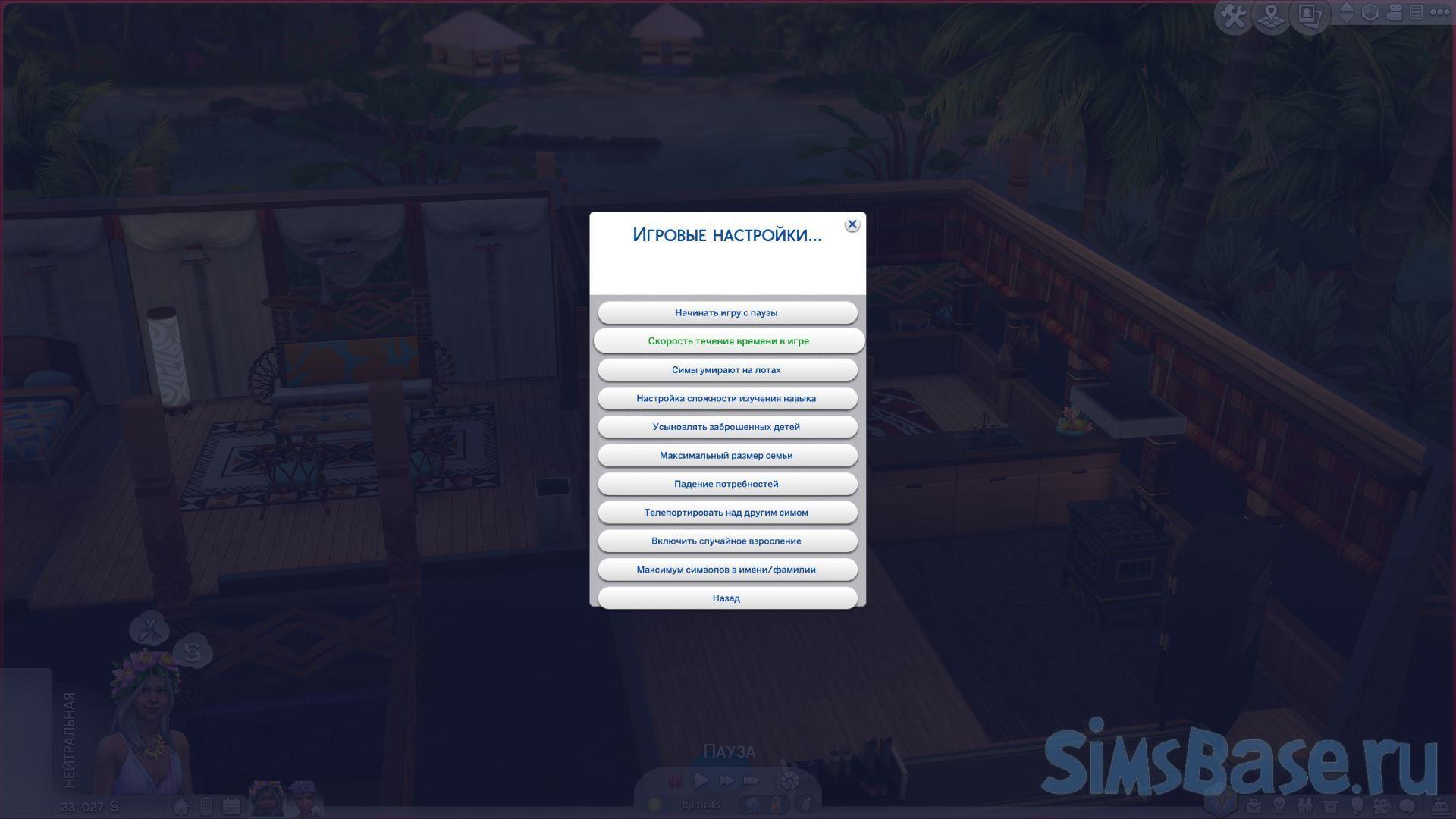 Как изменить время в Sims 4 и в чем его отличие от реального