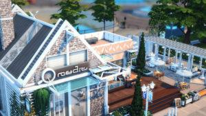 Кафе «Комнатка» от moonlightowl-es для Sims 4
