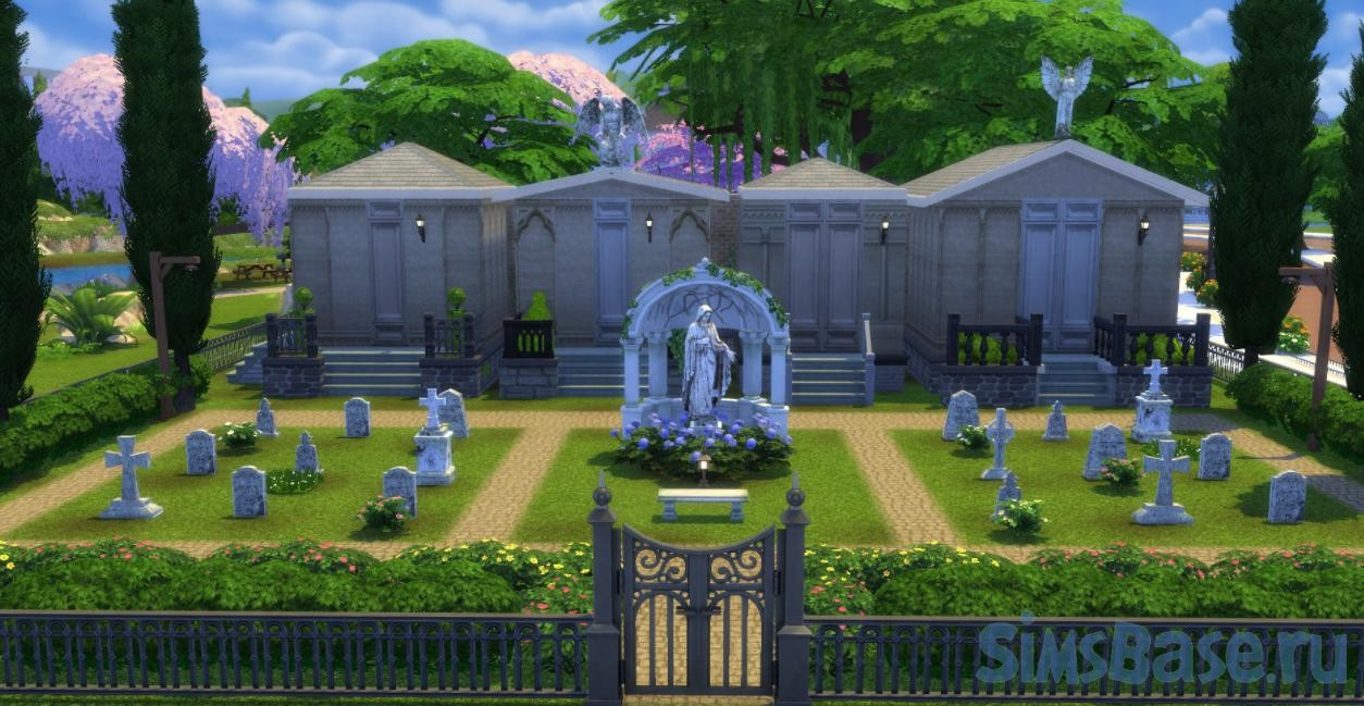 Мод «Участок Кладбище» от ChippedSim для Sims 4