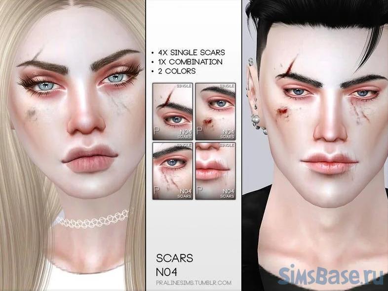 Лучшие СС шрамов для Sims 4