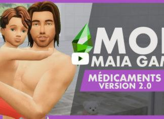 Мод «Болезни и лекарства» от Maia Game для Sims 4