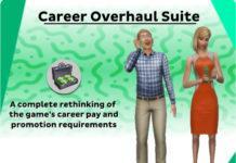 Мод «Глобальное изменение карьер игры – Career Overhaul Suite» от kuttoe для Sims 4