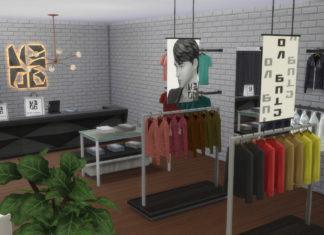 Набор объектов и мебели для магазина одежды от NANDO для Sims 4