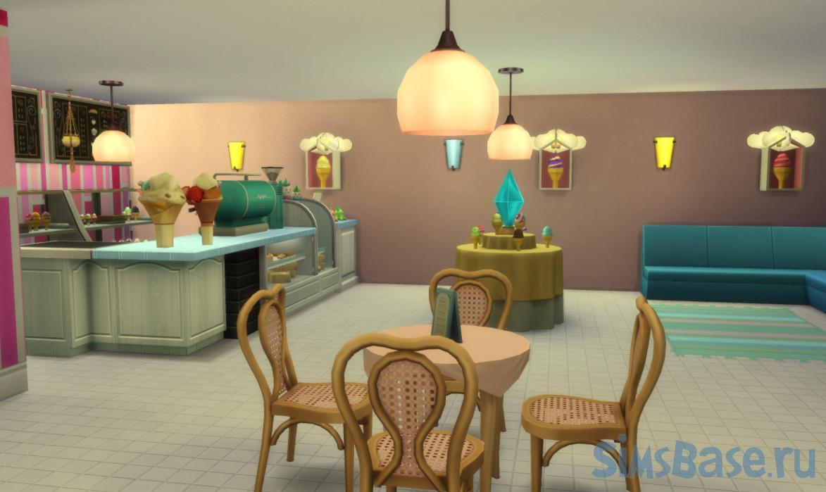 Кафе-мороженое Creamy Cones от Planetsims для Sims 4