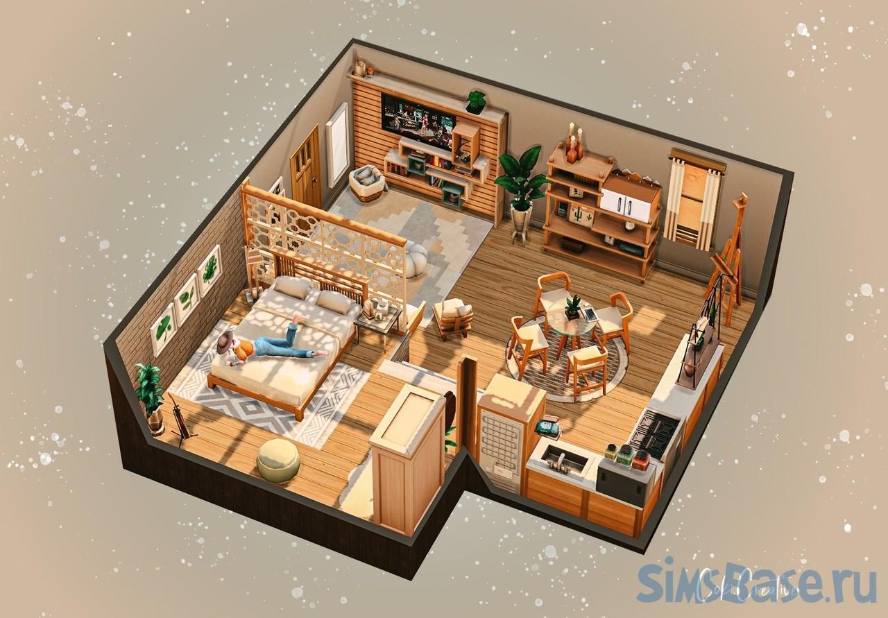 Подборка тематических комнат от разных авторов для Sims 4