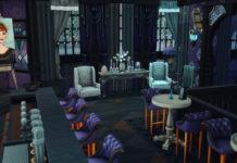 Бар «У ведьмы» от moonlightowl для Sims 4