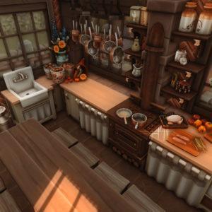 Жилой дом «Средневековый дом пекаря» от GordanJohnson для Sims 4