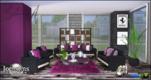 Большой набор СС (предметы и комнаты) от Jomsims для Sims 4