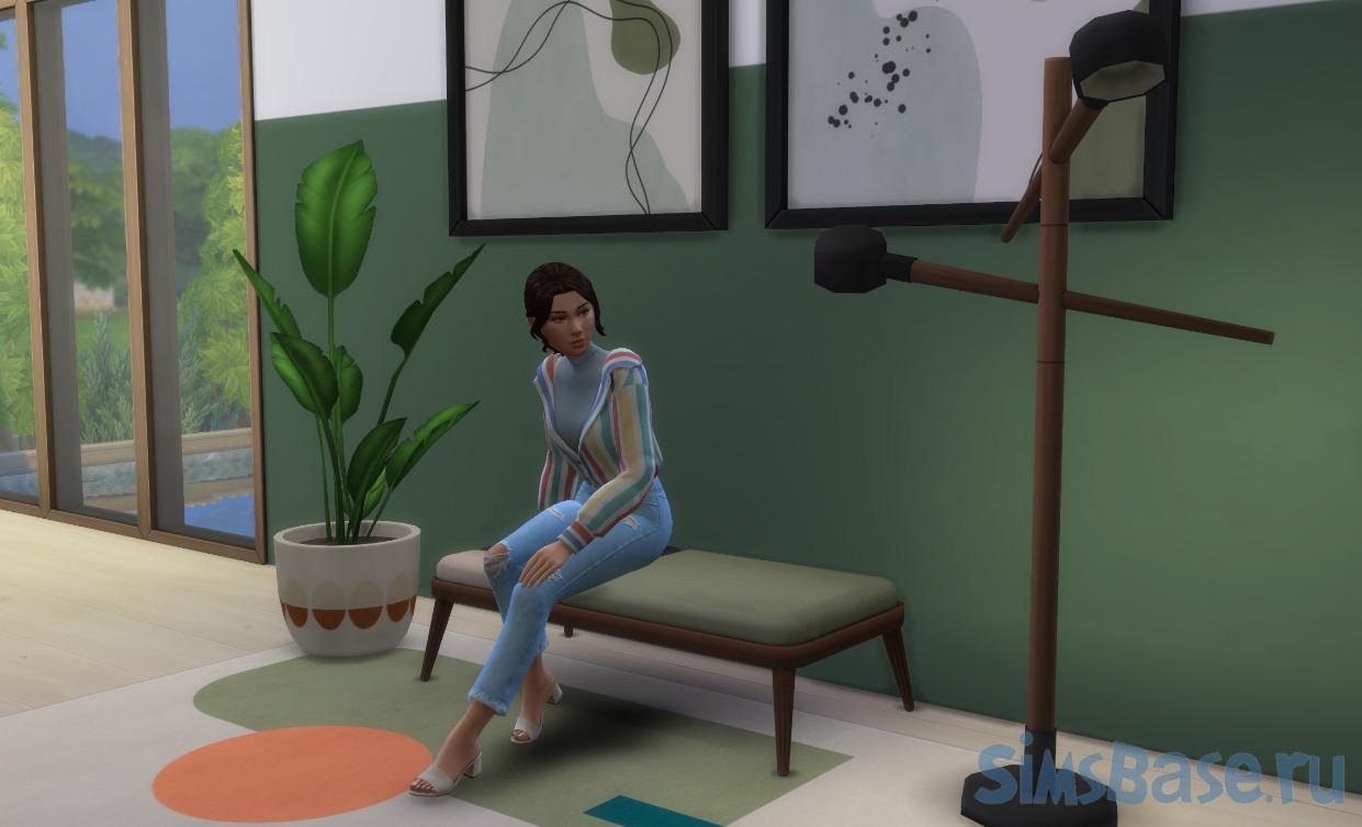 Набор мебели для гостиной ColourTalk от My cup of CC для Sims 4