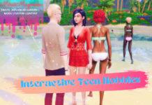 Мод «Интерактивные хобби для подростков» от mirai для Sims 4