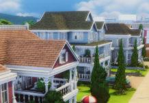 Застройка Нюкреста (Риджлайн-Драйв) от RatMountain для Sims 4