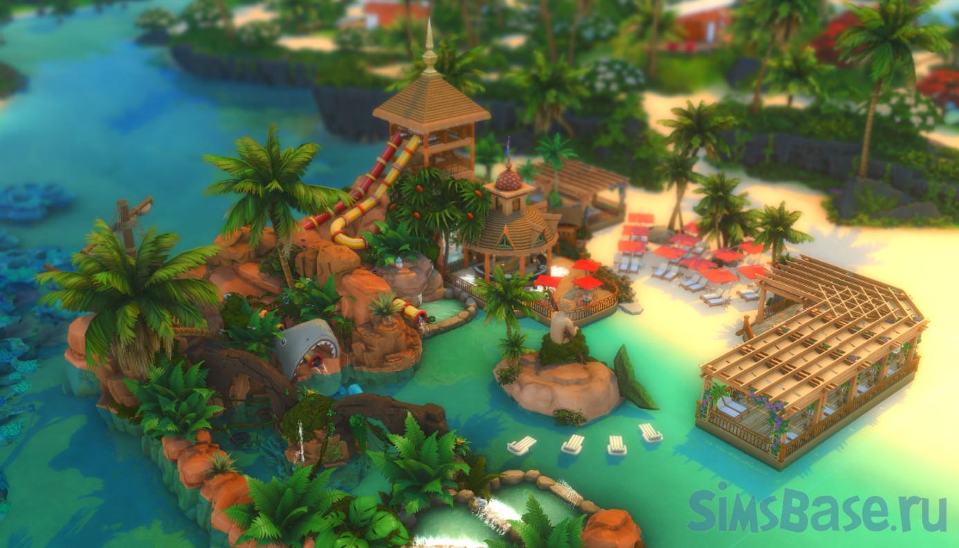 Аквапарк «Очаровательный пляж» от  bradybrad7 для Sims 4