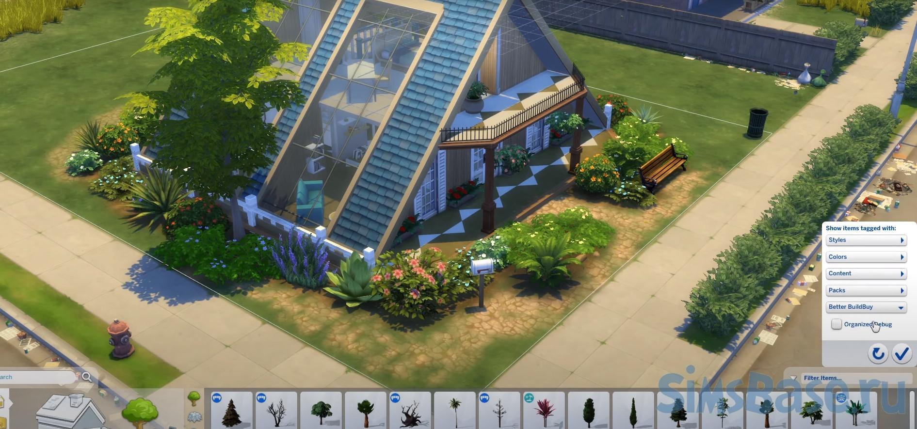 Мод «Расширенный режим строительства Better buildbuy» от TwistedMexi для Sims 4