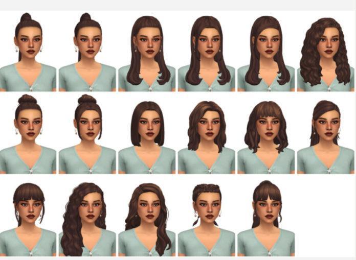Новые прически от aretha для Sims 4