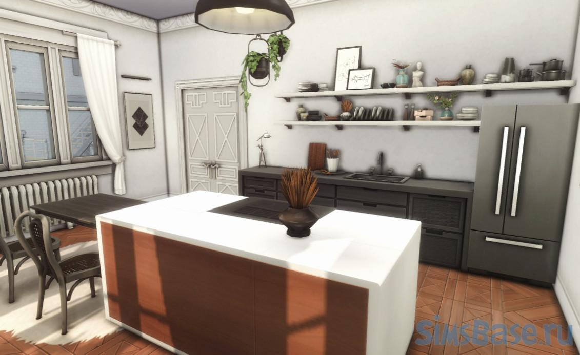 Квартира Modern Vintage Apartment для Калпеппер Хаус 20 от evarotky для Sims 4