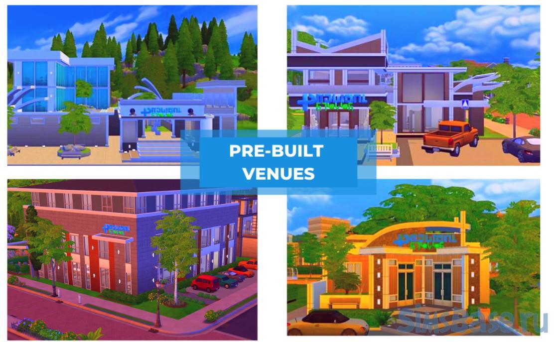 Мод «Частная практика обновление 2.2» от SimRealist для Sims 4