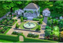 Общественный сад от harinezumi для Sims 4