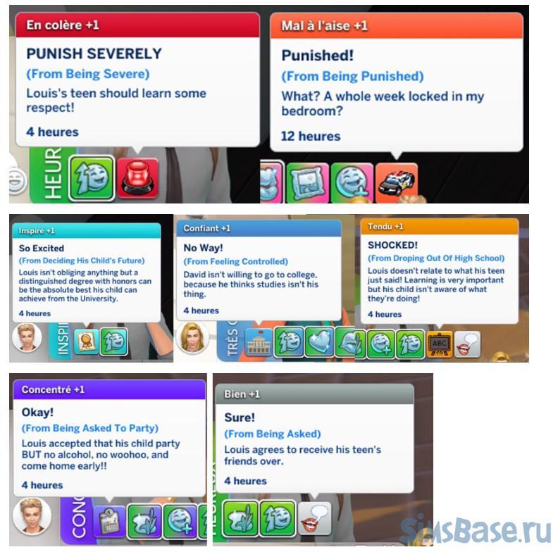 Мод «Подростки и отношения» от PERSEA для Sims 4
