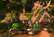 Жилой дом «Травник в лесу» от ariafaeyt для Sims 4