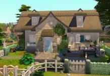 Коттедж для расширения Загородная жизнь от simsontherope для Sims 4