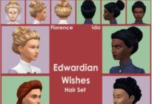 Набор причесок начала ХХ века от buzzardly28 для Sims 4