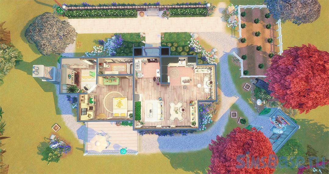 Жилой дом Лаванда от allisas для Sims 4