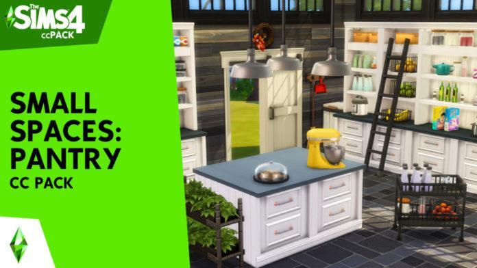 Набор мебели для кладовой и хранения вещей CC Pack от SIXAM CC для Sims 4