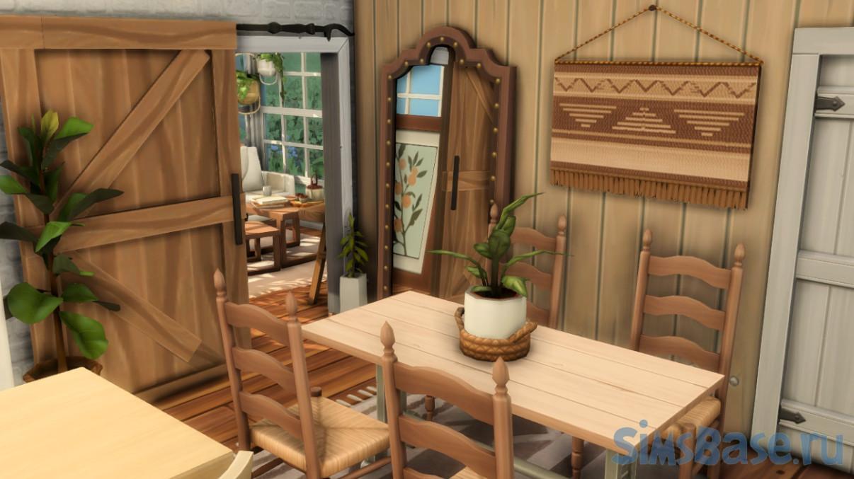 Жилой дом в для расширения «Загородная жизнь» от giuliabuilds для Sims 4