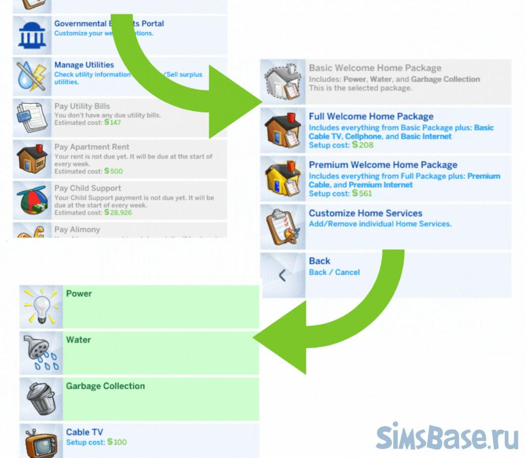 Мод «SNB Bills или банковские счета, пособия» от simrealist для Sims 4