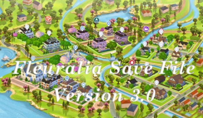 Большое стартовое сохранение от Fleuralia для Sims 4