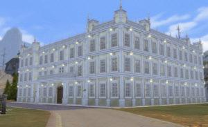 Новое здание Бритчестерского общежития от FernSims для Sims 4