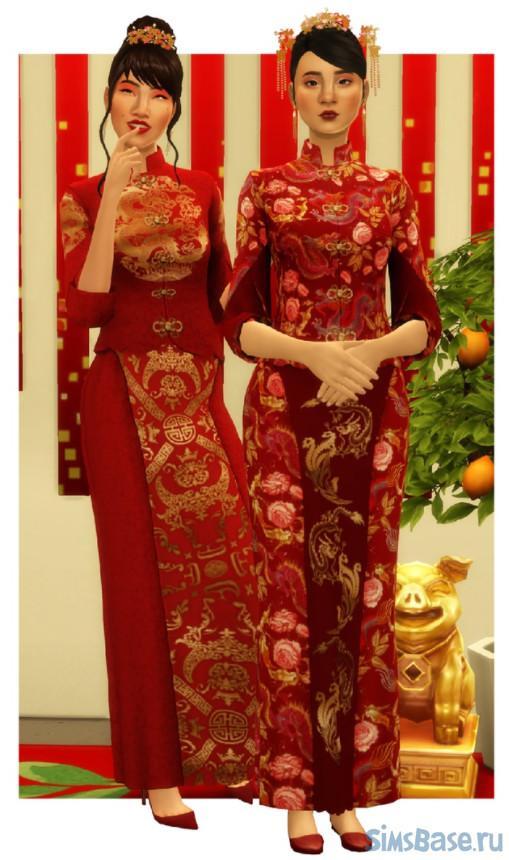 Набор костюмов и атрибутики стран Азии от Zeussim для Sims 4