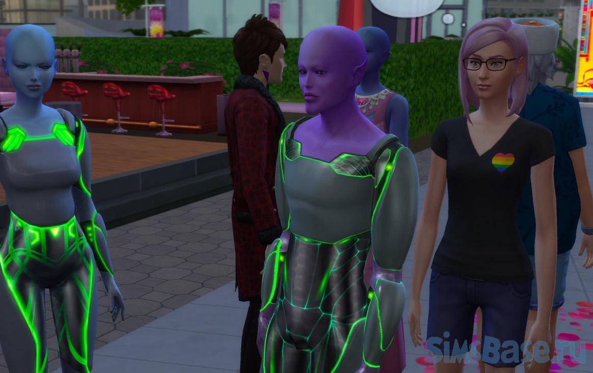 Мод «Свойство участка Зона высадки пришельцев» от simularity для Sims 4