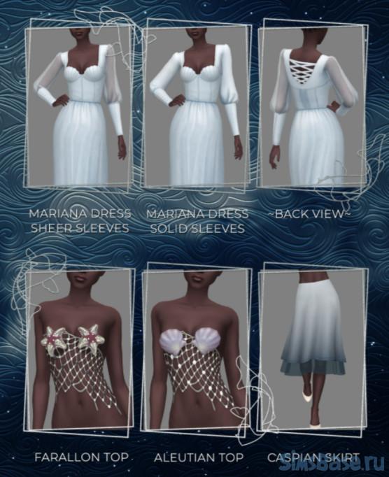 Наборы одежды и аксессуаров Сказочных леди от Odis для Sims 4