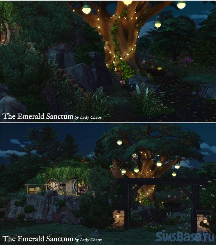 Жилой дом Сказочная поляна от ladychaos для Sims 4