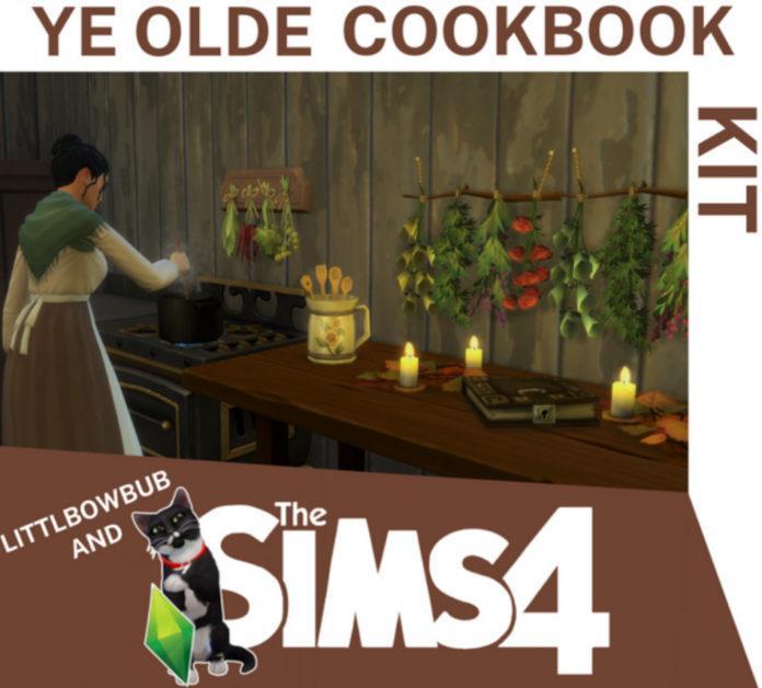 Мод «Средневековая кулинария и жизнь или Olde Cookbook Kit» от Littlbowbub для Sims 4