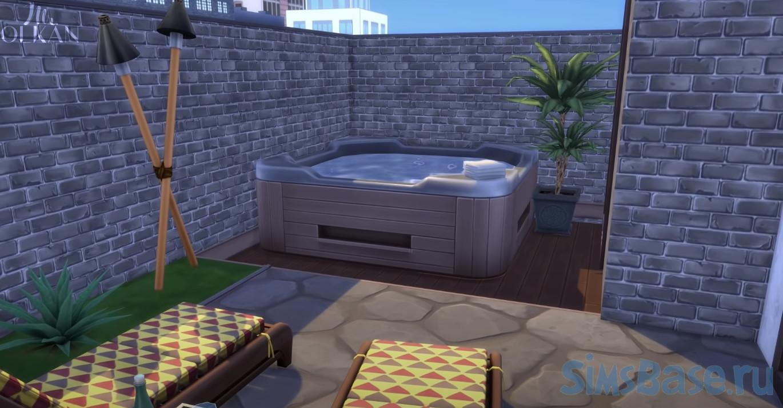 Жилой дом для комплекта Лофт от MrOlkan для Sims 4