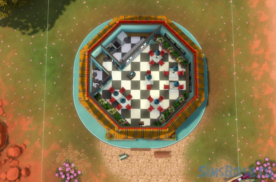 Бар «Бургер» от kittychin для Sims 4